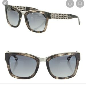 $550. CHANEL Current Sty. Polarized Blk Marble NEW